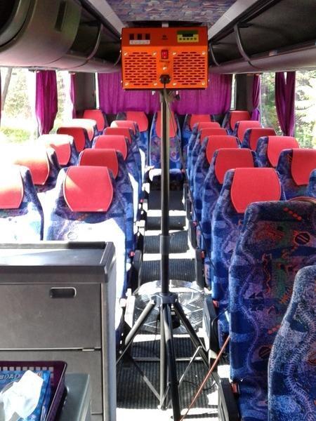 dezynfekcja autokaru, fotele w autokarze