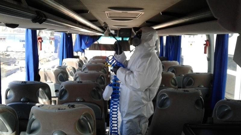 dezynfekcja foteli autokaru